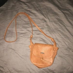 ROXY/light brown/ over-the-shoulder purse